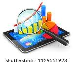 mobile office  stock exchange... | Shutterstock . vector #1129551923