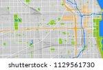 map city chicago | Shutterstock .eps vector #1129561730