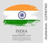 indian flag tri color based...   Shutterstock .eps vector #1129567463