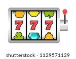 slot machine. flat style....   Shutterstock .eps vector #1129571129