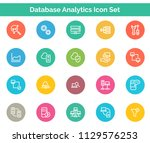 database analytics icon set | Shutterstock .eps vector #1129576253