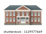 front view of brick... | Shutterstock .eps vector #1129577669