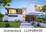 3d rendering of modern cozy... | Shutterstock . vector #1129580930