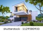 3d rendering of modern cozy... | Shutterstock . vector #1129580933