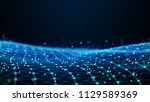 abstract 3d rendering dots and... | Shutterstock . vector #1129589369