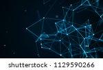 abstract technology futuristic...   Shutterstock . vector #1129590266