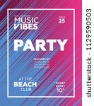 party poster for night club.... | Shutterstock .eps vector #1129590503