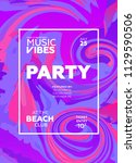 party poster for night club.... | Shutterstock .eps vector #1129590506