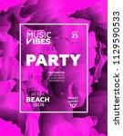 party poster for night club.... | Shutterstock .eps vector #1129590533