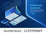 analysis finance graph... | Shutterstock .eps vector #1129590869