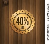 sale 40  off. forty percent... | Shutterstock .eps vector #1129592636