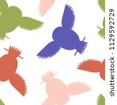 seamless vector pattern with... | Shutterstock .eps vector #1129592729