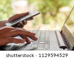 online shopping and online... | Shutterstock . vector #1129594529