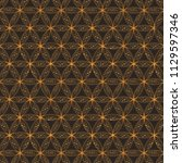 flower of life. sacred geometry ... | Shutterstock .eps vector #1129597346
