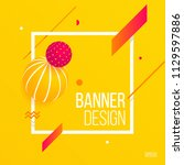 3d style banner design on... | Shutterstock .eps vector #1129597886