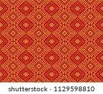 seamless black geometric... | Shutterstock .eps vector #1129598810