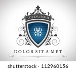 vintage emblem with a place for ... | Shutterstock .eps vector #112960156