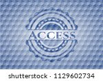 access blue badge with... | Shutterstock .eps vector #1129602734