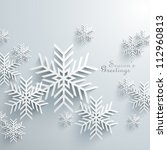 abstract 3d snowflakes design | Shutterstock .eps vector #112960813
