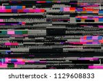 abstract futuristic background... | Shutterstock . vector #1129608833