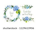 Floral Banner. Set With...