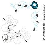 angular vector floral monogram   Shutterstock .eps vector #112962130
