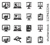 infographic icons. black... | Shutterstock .eps vector #1129622246