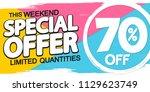 special offer  summer sale ... | Shutterstock .eps vector #1129623749