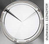 blank face  or dial  of analog...   Shutterstock . vector #1129629539