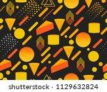 memphis seamless pattern.... | Shutterstock .eps vector #1129632824