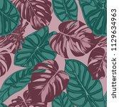 vector tropic seamless pattern. ... | Shutterstock .eps vector #1129634963