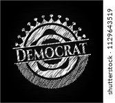 democrat chalkboard emblem on... | Shutterstock .eps vector #1129643519
