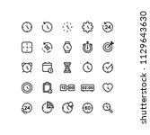 time clock icons outline  | Shutterstock .eps vector #1129643630