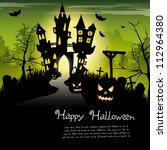 creepy castle   halloween... | Shutterstock .eps vector #112964380