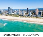 broadbeach on a perfect blue... | Shutterstock . vector #1129644899