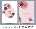 wedding invitation in the... | Shutterstock .eps vector #1129645550
