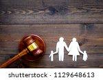 family law  family right... | Shutterstock . vector #1129648613