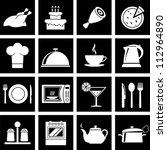vector illustration of icons on ... | Shutterstock .eps vector #112964890