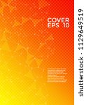 vector cover page layout.... | Shutterstock .eps vector #1129649519
