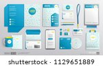 stationary mockup set of... | Shutterstock .eps vector #1129651889