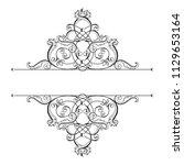 divider or frame in... | Shutterstock .eps vector #1129653164