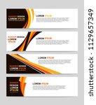 new vector abstract design web... | Shutterstock .eps vector #1129657349