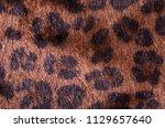 brown leopard fur pattern....   Shutterstock . vector #1129657640