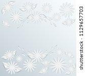 flower paper art background.... | Shutterstock .eps vector #1129657703