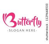 butterfly logo design vector | Shutterstock .eps vector #1129668533