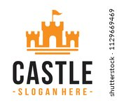 castle logo design inspiration... | Shutterstock .eps vector #1129669469