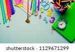 back to school concept. close... | Shutterstock . vector #1129671299