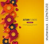 Floral Autumn Background With...