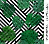 vector seamless tropical... | Shutterstock .eps vector #1129682333