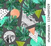 abstract summer geometric...   Shutterstock . vector #1129689329